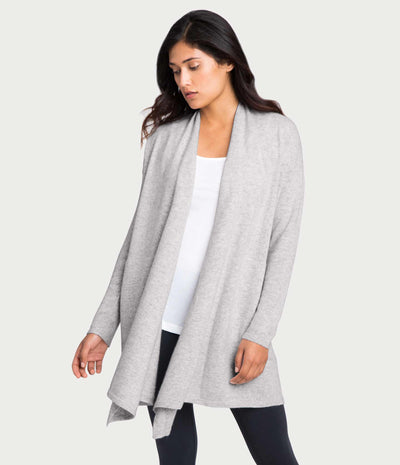 Cashmere Cardigan, color-oyster