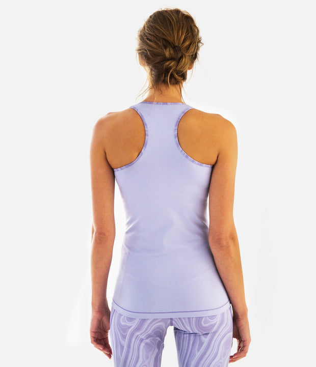 DwellStudio Malakos Racerback Tank, color-thistle