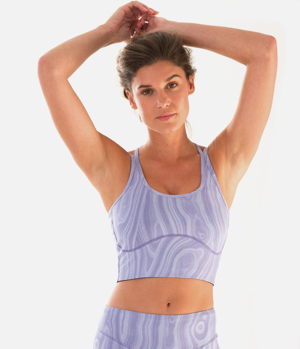 DwellStudio Malakos Sports Bra, color-thistle