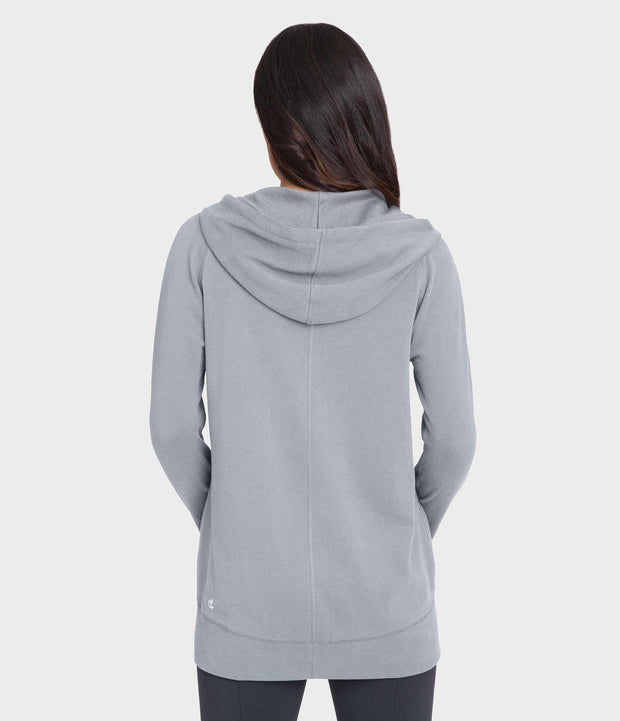 french terry hoodie, color-pottery