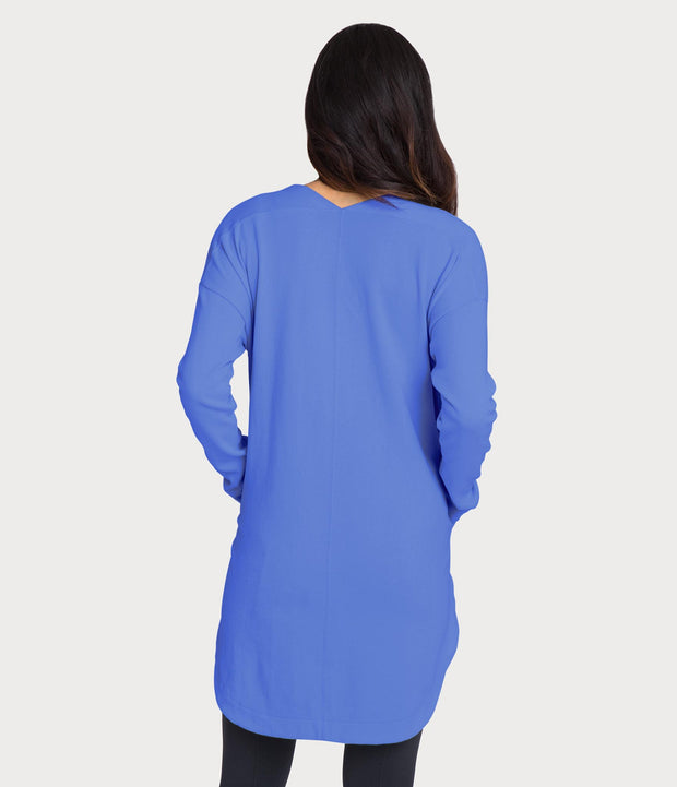 French Terry Tunic, color-dazzling-blue