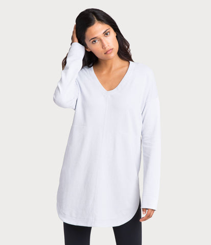 french terry tunic, color-mist