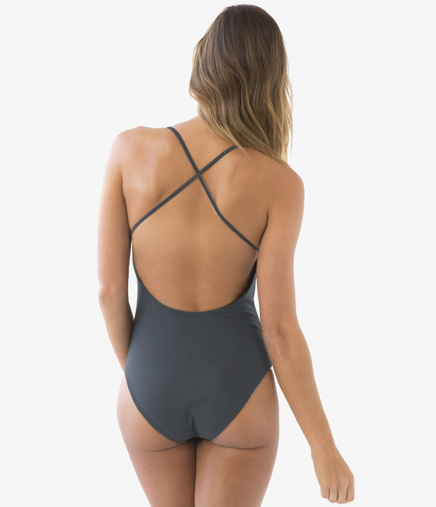 Cross Back One-Piece Swimsuit, color-ombre