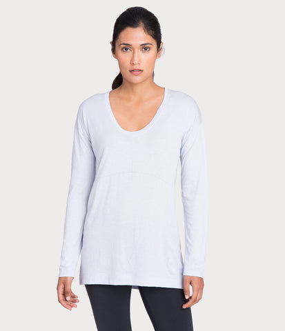 pima deconstructed long sleeve, color-mist