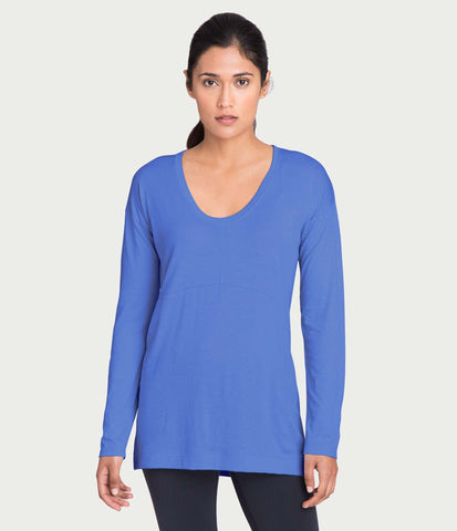 pima deconstructed long sleeve, color-dazzling-blue