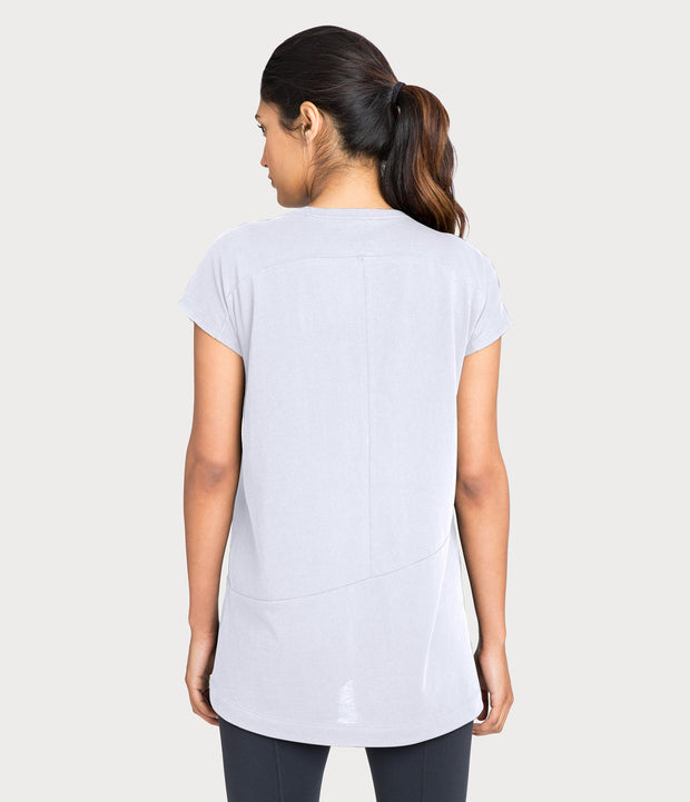 Pima Deconstructed Short Sleeve Tee, color-mist