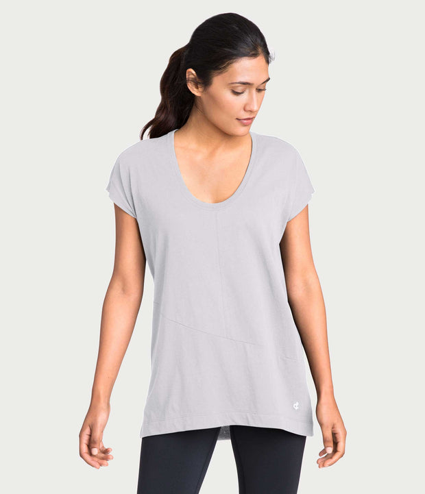Pima Deconstructed Short Sleeve Tee, color-microchip