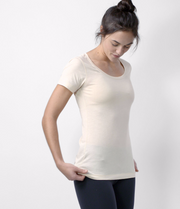 Pima Scoop Neck Tee, color-champagne