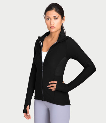 Track Jacket, color-black