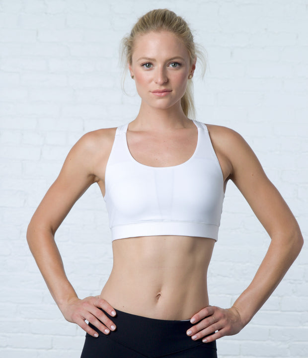 Keyhole Sports Bra, color-wan-white