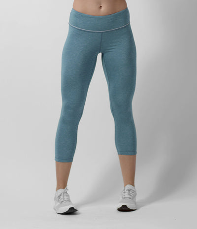 Lightweight Capri Tight, color-moroccan-blue-heather