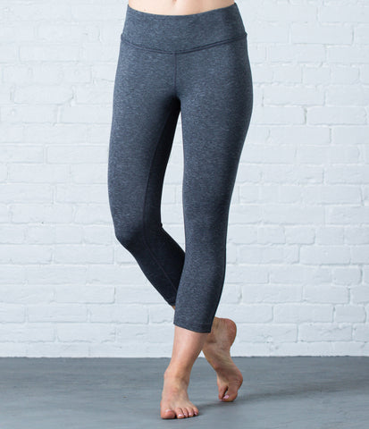 Lighweight Capri Tight, color-black-heather