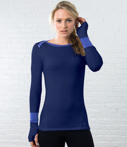 Long Sleeve Tee, color-peacoat