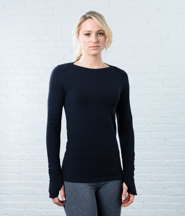 Long Sleeve Tee, color-black