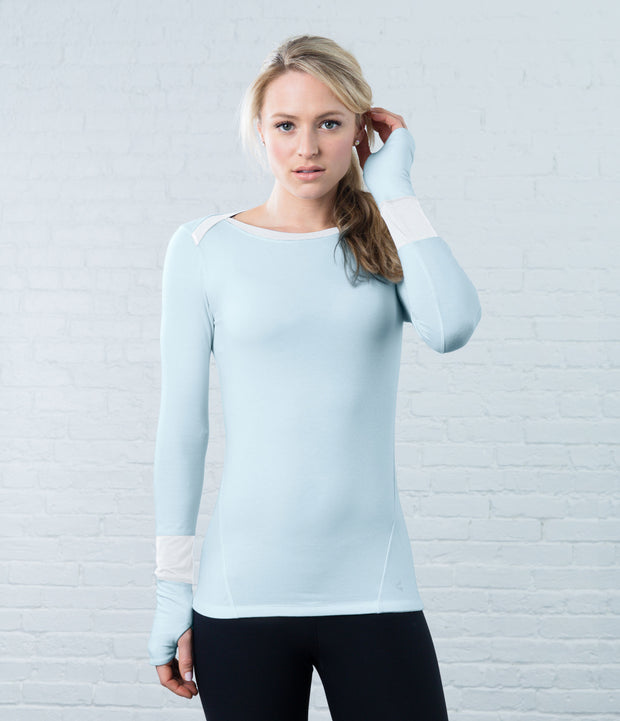 Long Sleeve Tee, color-cloud-blue