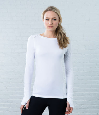 Long Sleeve Tee, color-white