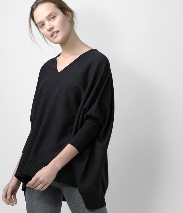 Merino Cocoon Sweater, color-black