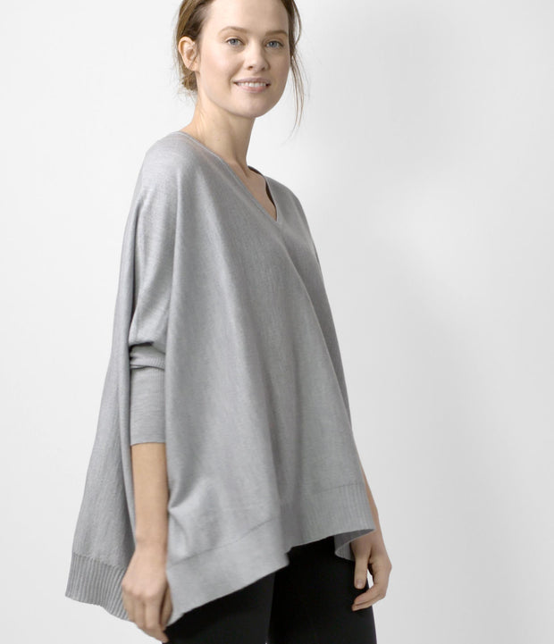 Merino Cocoon Sweater, color-light-grey