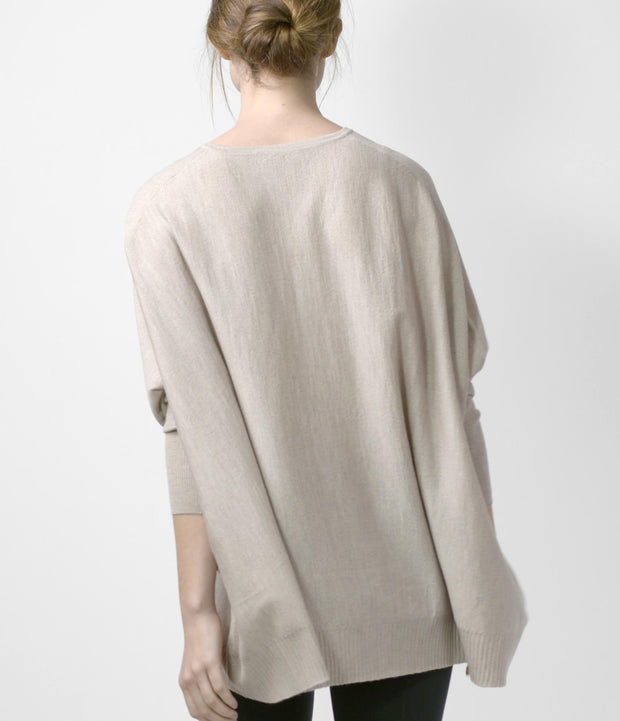 Merino Cocoon Sweater, color-linen-melange