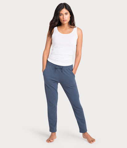 french terry pant, color-vintage indigo