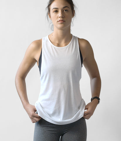 Pima Modern Tank, color-white