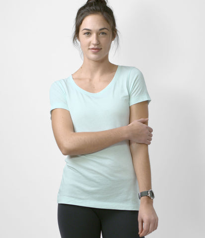 Pima Scoop Neck Tee, color-wan-blue