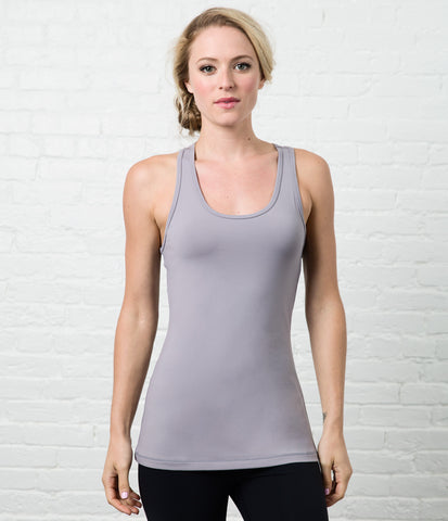 Racerback Tank, color-quicksilver
