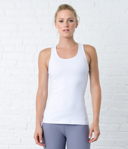 Racerback Tank, color-white