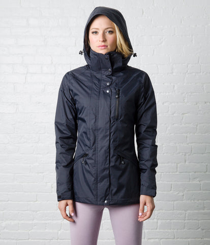 Rain Jacket, color-black