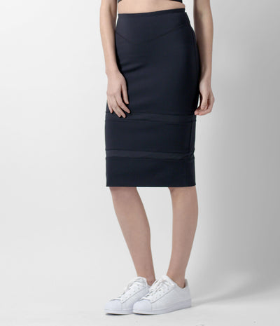 sport pencil skirt, black