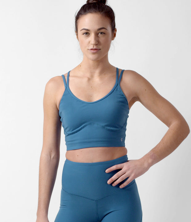 Studio Sports Bra, color-moroccan-blue