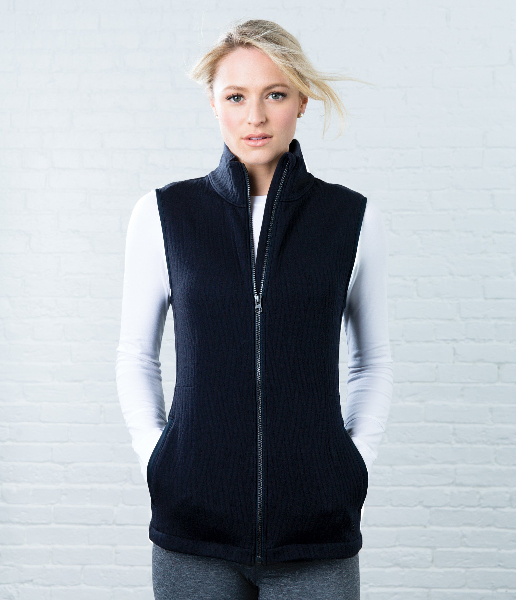 quilted vest – Crane and Lion : black quilted vest - Adamdwight.com