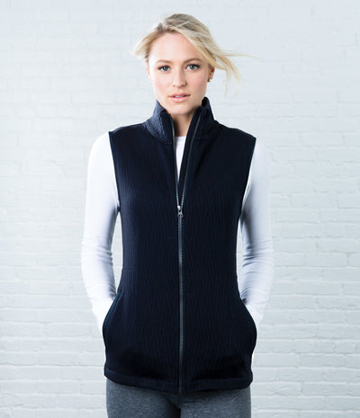 Quilted Vest, color-black