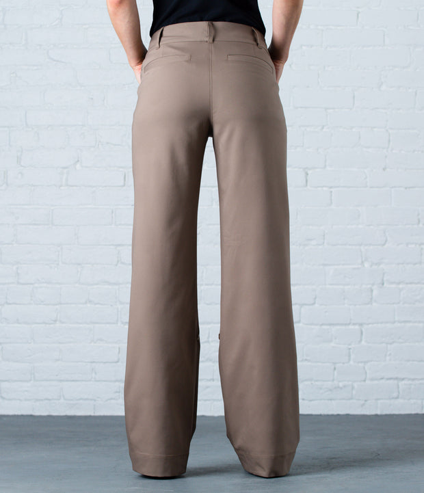 Wide Leg Pant, color-caribou