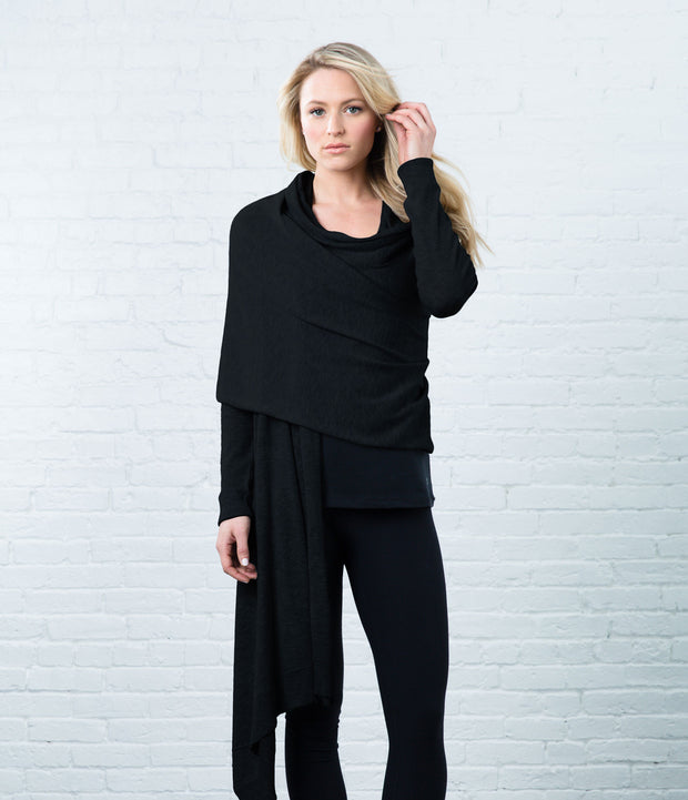 Wrap Sweater, color-black