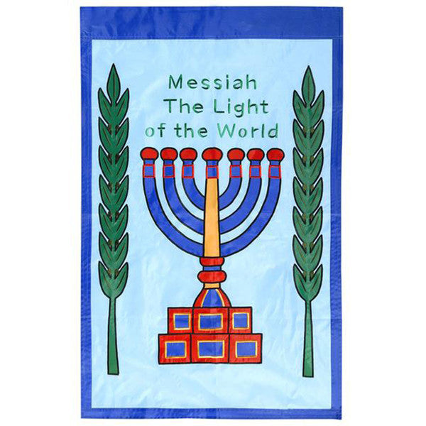 Messiah Light of the World - Porch banner - Rock of Israel