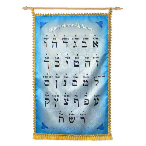 Hebrew Alphabet Banner - Rock of Israel