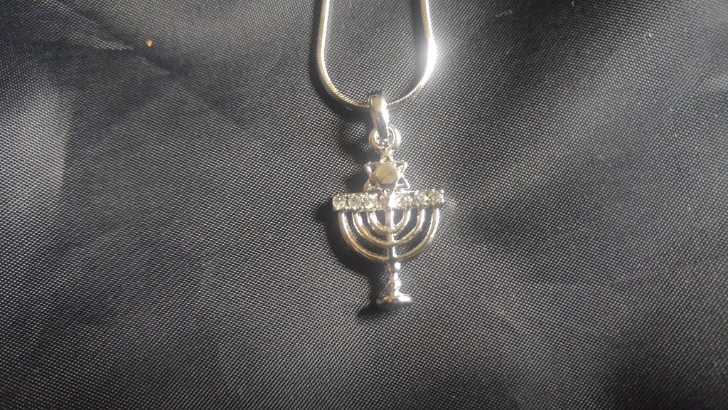 messianic necklace menorah