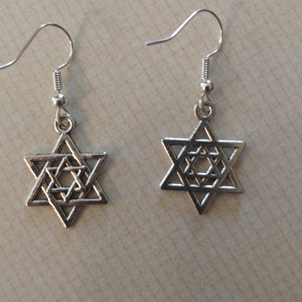Earrings - Star of David within Star of David - Rock of Israel Store