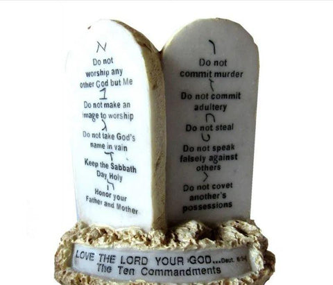 10 Commandments plaque - Rock of Israel Store