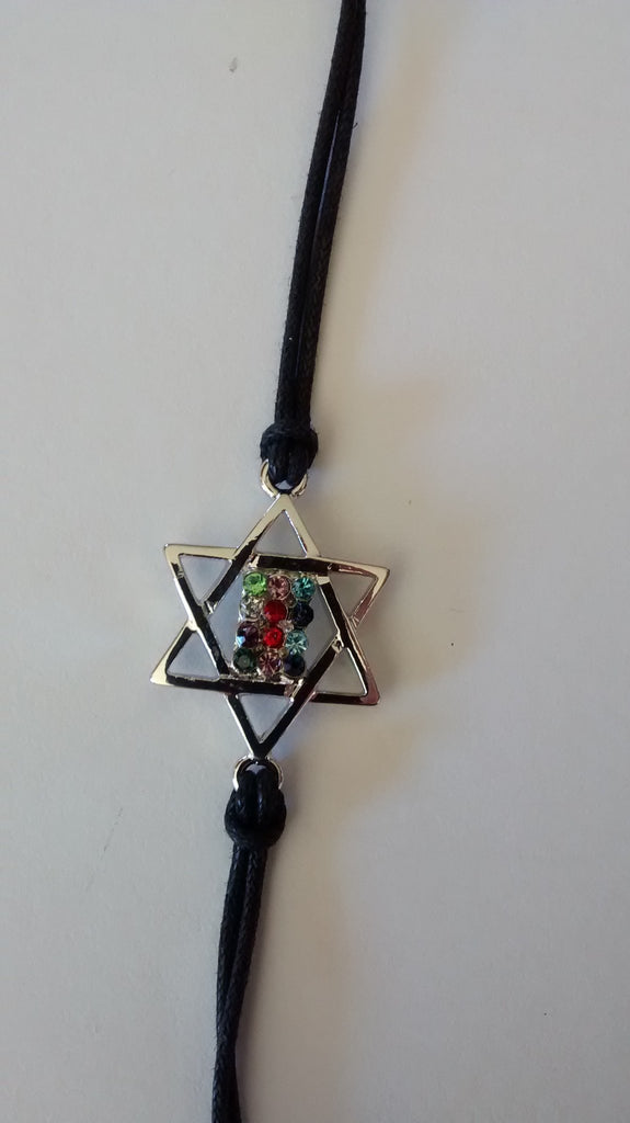 Star of David Bracelet w/ High Priest Breastplate - Rock of Israel