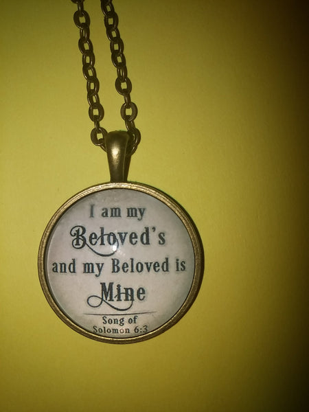 I am my beloved's - Circle necklace