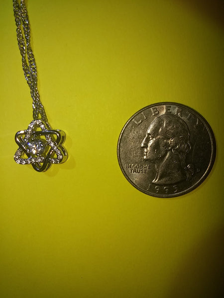 Star of David artistic necklace