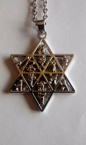 Twelve tribes star of David necklace - Rock of Israel Store