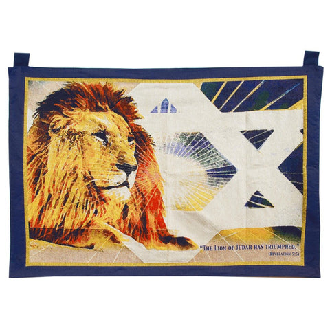 Lion of Judah Tapestry (Wall Hanging) - Rock of Israel