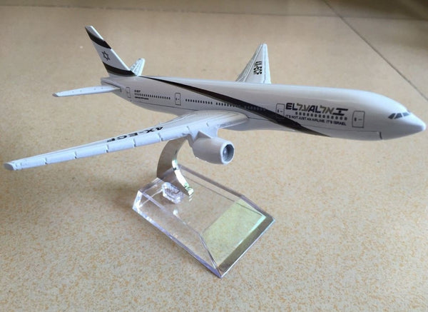 Israel Boeing 777 EL-AL Airlines Metal Diecast Model - Rock of Israel