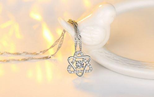 Star of David dainty Necklace - zircon - Rock of Israel Store