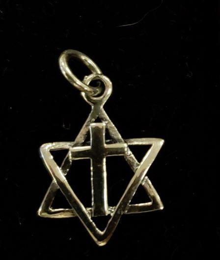 Star of David with cross necklace. silver 925 - Rock of Israel Store