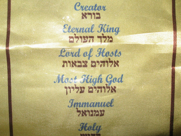Names of God in Hebrew banner - small - Rock of Israel