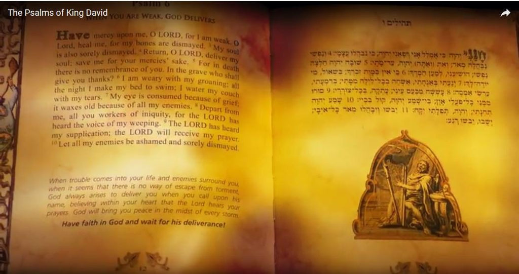 Tehiliim: THE PSALMS of King David  Coffee Table book
